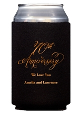 Elegant 70th Anniversary Collapsible Koozies