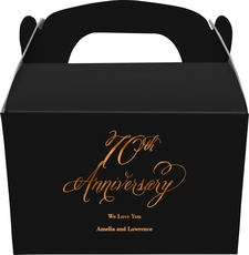 Elegant 70th Anniversary Gable Favor Boxes