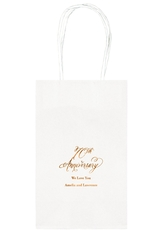 Elegant 70th Anniversary Medium Twisted Handled Bags