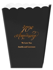 Elegant 70th Anniversary Mini Popcorn Boxes