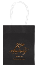 Elegant 70th Anniversary Mini Twisted Handled Bags