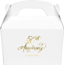 Elegant 50th Anniversary Large Favor Boxes