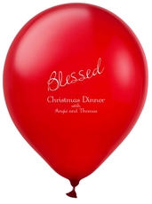 Expressive Script Blessed Latex Balloons