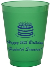 Sophisticated Birthday Cake Colored Shatterproof Cups