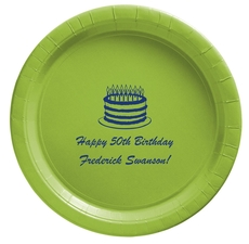 Sophisticated Birthday Cake Paper Plates