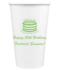 Sophisticated Birthday Cake Paper Coffee Cups