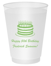 Sophisticated Birthday Cake Shatterproof Cups