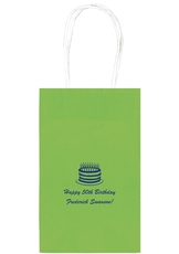 Sophisticated Birthday Cake Medium Twisted Handled Bags