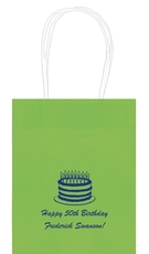 Sophisticated Birthday Cake Mini Twisted Handled Bags