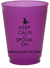 Keep Calm and Spook On Colored Shatterproof Cups