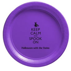 Keep Calm and Spook On Paper Plates