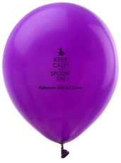 Keep Calm and Spook On Latex Balloons