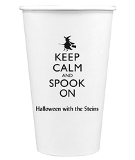 Keep Calm and Spook On Paper Coffee Cups