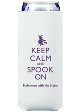 Keep Calm and Spook On Collapsible Slim Koozies