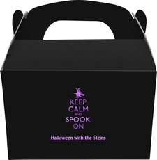 Keep Calm and Spook On Large Favor Boxes