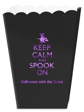Keep Calm and Spook On Mini Popcorn Boxes
