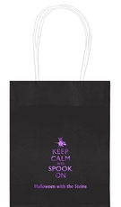 Keep Calm and Spook On Mini Twisted Handled Bags