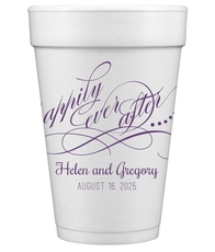 Happily Ever After Styrofoam Cups