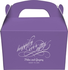 Happily Ever After Gable Favor Boxes
