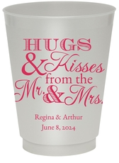 Hugs and Kisses Colored Shatterproof Cups