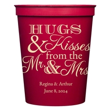 Hugs and Kisses Stadium Cups