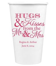 Hugs and Kisses Paper Coffee Cups