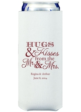 Hugs and Kisses Collapsible Slim Koozies