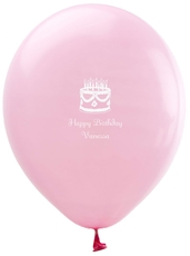 Sweet Floral Birthday Cake Latex Balloons