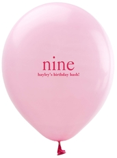 Select Your Big Number Latex Balloons