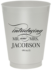 Introducing Mr and Mrs Colored Shatterproof Cups