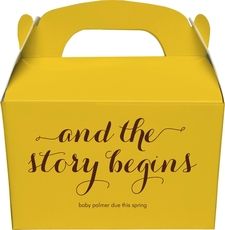 And the Story Begins Gable Favor Boxes