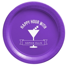 Happy Hour Martini Paper Plates