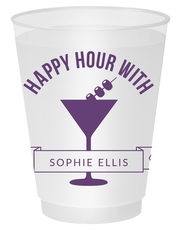 Happy Hour Martini Shatterproof Cups