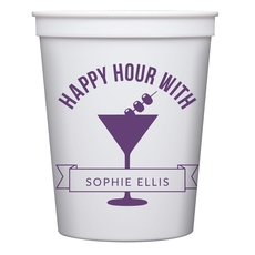 Happy Hour Martini Stadium Cups