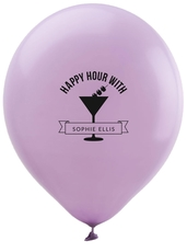 Happy Hour Martini Latex Balloons
