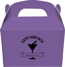 Happy Hour Martini Gable Favor Boxes