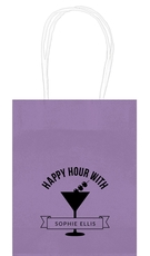 Happy Hour Martini Mini Twisted Handled Bags
