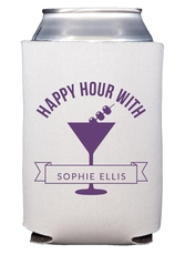 Happy Hour Martini Collapsible Koozies