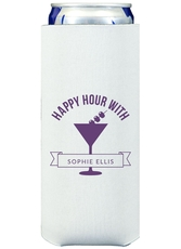 Happy Hour Martini Collapsible Slim Koozies