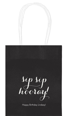 Elegant Sip Sip Hooray Mini Twisted Handled Bags