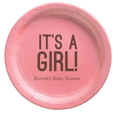 Bold It's A Girl Paper Plates
