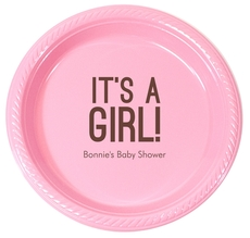 Bold It's A Girl Plastic Plates
