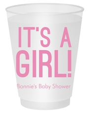 Bold It's A Girl Shatterproof Cups
