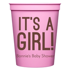 Bold It's A Girl Stadium Cups