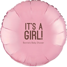 Bold It's A Girl Mylar Balloons