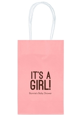 Bold It's A Girl Medium Twisted Handled Bags
