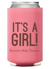 Bold It's A Girl Collapsible Koozies
