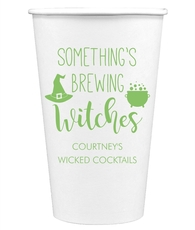 Something's Brewing Witches Paper Coffee Cups