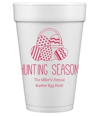 Hunting Season Easter Styrofoam Cups