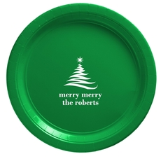 Artistic Christmas Tree Paper Plates